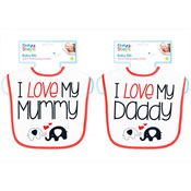 Baby Love Mummy/Daddy Velcro Bib