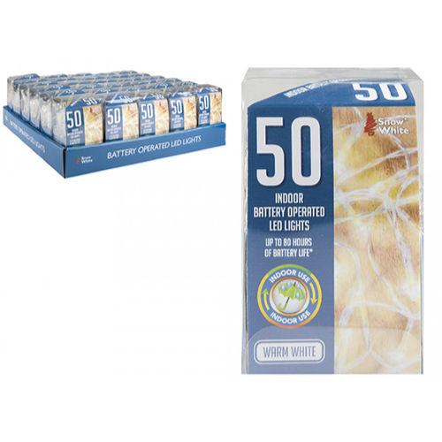 50 Warm White LED Lights