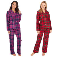 Ladies Long Pyjama Set Checkered