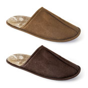 Mens Soft Plush Lining Mule Slippers