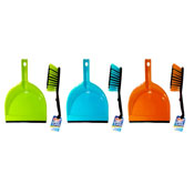 Bright Colour Dustpan And Brush Set
