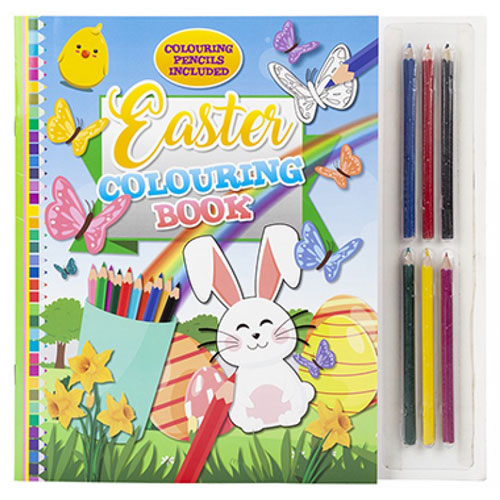Easter Colouring Book With Mini Pencils
