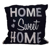Home Sweet Home Cushion Cover Navy