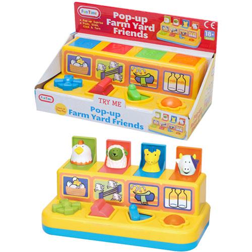Pop Up Farm Yard Friends Toy