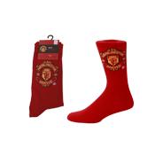 Manchester United Design Mens Socks Red