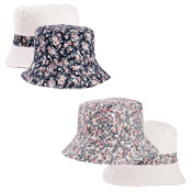 Ladies Ditsy Floral Reversible Bush Hat