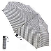 Ladies Black And White Dogtooth Wind Resistance Umbrella