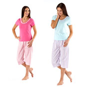 Ladies 3/4 Leg Pyjama Set