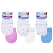 Babys Cotton Mittens 2 Pack