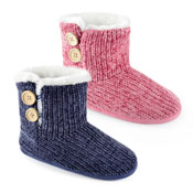 Ladies Plain Knitted Chenile Bootee