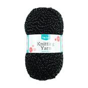 Sparkle Black Knitting Yarn