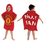 Kids Manchester United Towel Poncho
