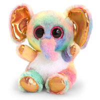 15cm Animotsu Rose Gold Elephant Soft Toy