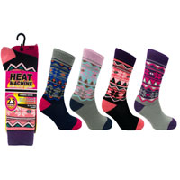 Ladies Heat Machine Thermal Socks Aztec 2.3 Tog