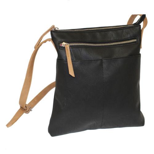 Ladies Large Crossbody Bag Black