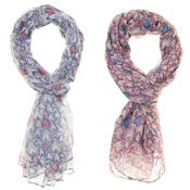 Fashion Scarf Amelia Heart Print