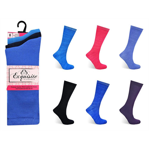 Ladies Exquisite Computer Socks Assorted Colours