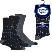 Mens Gentle Grip Socks City Walk