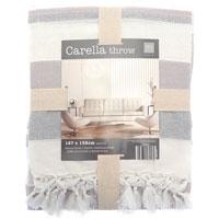 Carella Stripe Throw Cotton