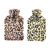 Plush Leopard Print Hot Water Bottles