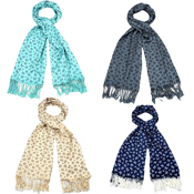 Assorted Bow Pashmina Scarves