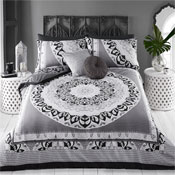 Paisley Mandala Black Reversible Duvet Set