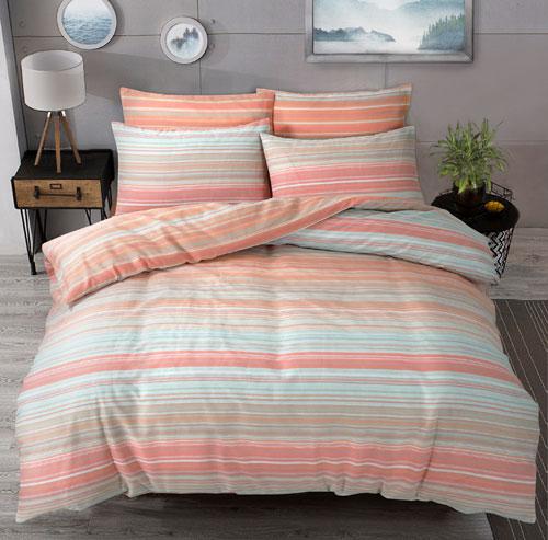 Classic Collection Ombre Stripe Peach Duvet Set