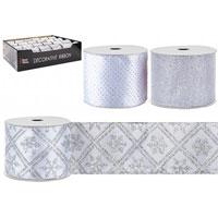 Luxury Christmas Ribbon Silver