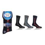 Mens Gentle Grip Socks Stripe Design