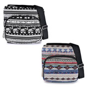Ladies Cross Body Bag Elephant Multi Aztec Design
