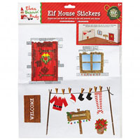 Reusable Elf House Wall Stickers
