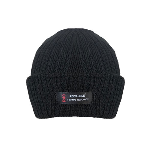 Boys Knitted Thermal Insulation Hat Black