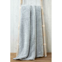 Soft and Cosy Teddy Blanket Throw Silver 200x240