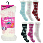 Ladies Snowflake Thermal Bootie Socks