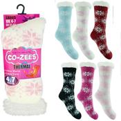 Ladies Snowflake Thermal Bootie Socks