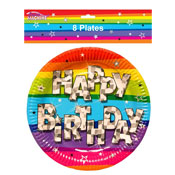 Happy Birthday Rainbow Plates