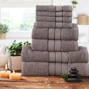 Luxurious 8 Piece Towel Bale Set Mink