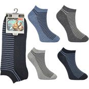 Mens Performax Trainer Socks Foot Top Stripes