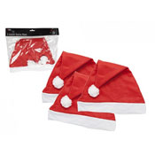 Christmas Adult Red Santa Hat 3PC
