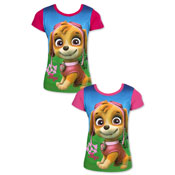 Official Paw Patrol Skye Short Sleeve Printed T-Shirt