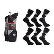 Mens Argyle Socks 6 Pair Pack CARTON PRICE