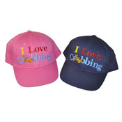 Childrens I Love Crabbing Baseball Cap
