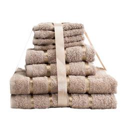 8 Piece Towel Bale Beige Egyptian Cotton