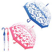 Ladies Butterfly And Dragonfly Clear Dome Umbrella
