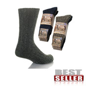 Mens Chunky Boot Socks Wool CARTON PRICE
