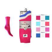 4-6 Lycra Socks Bright Colours