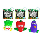 Squeaky Green Vegetable Dog Toy