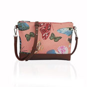 Ladies Butterfly Canvas Mini Crossbody Bag Pink