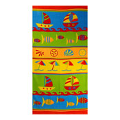 Microfibre Sail Boats Beach Towel