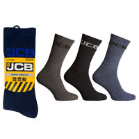 JCB 4 Pack Mens Crew Socks Navy